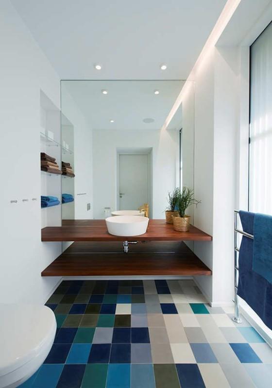 Pomysł na półki pod umywalkę