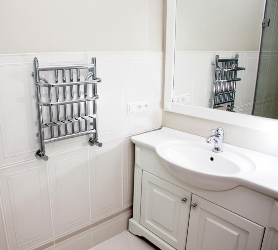 grzejnik łazienkowy retro chrom