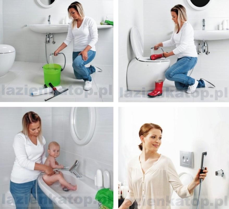 Baterie umywalkowe z prysznicem