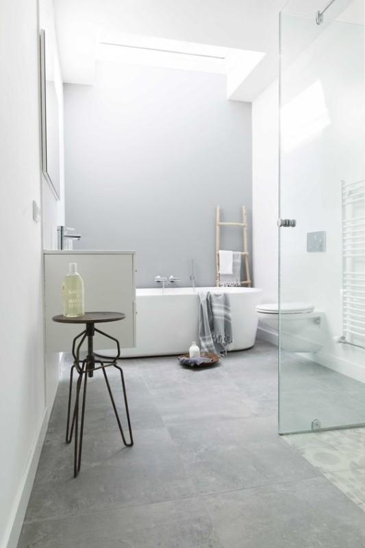 Odcienie szarości w wystroju łazienki
