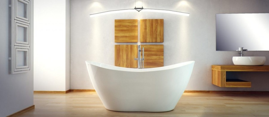 Wanna wolnostojaca Viya Besco PMD wizualizacja łazienki