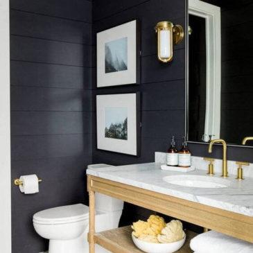 Czarna łazienka – głębia i tajemniczość