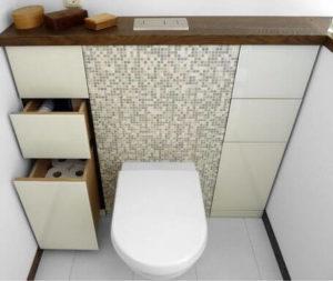 Stelaże WC - przycisk spłukujący z góry
